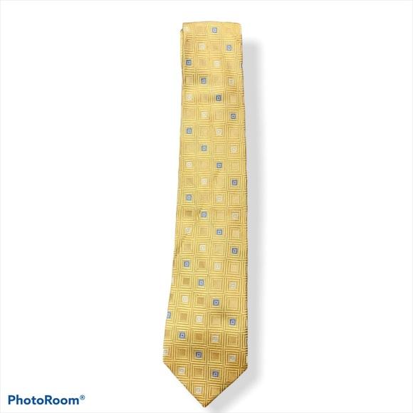Michael Kors Men's Gold & Blue Geometric Tie